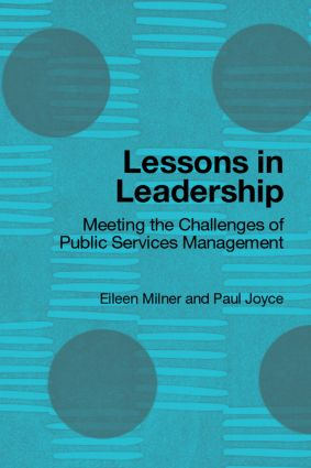 Lessons in Leadership: Meeting the Challenges of Public Service Management (Paperback) book cover