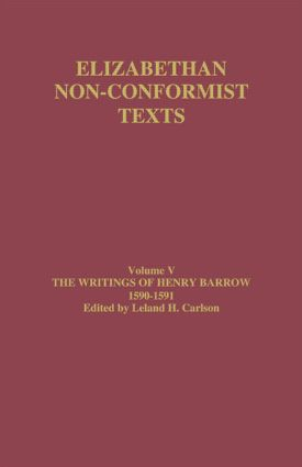 The Writings of Henry Barrow, 1590-91 (Hardback) book cover