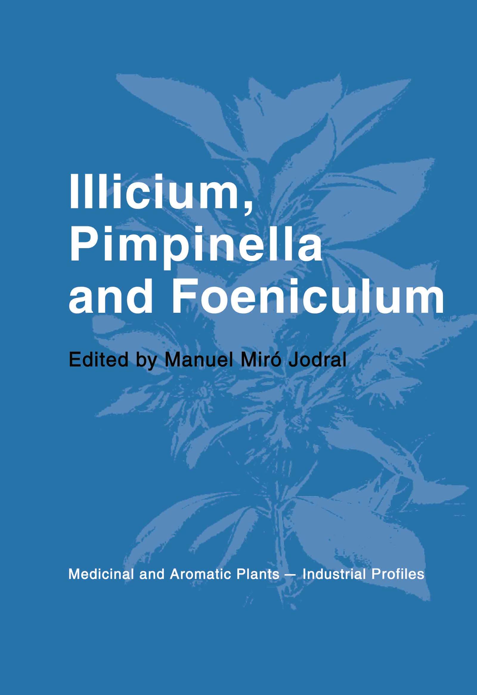 Illicium, Pimpinella and Foeniculum book cover