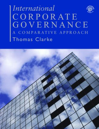 International Corporate Governance: A Comparative Approach (Paperback) book cover