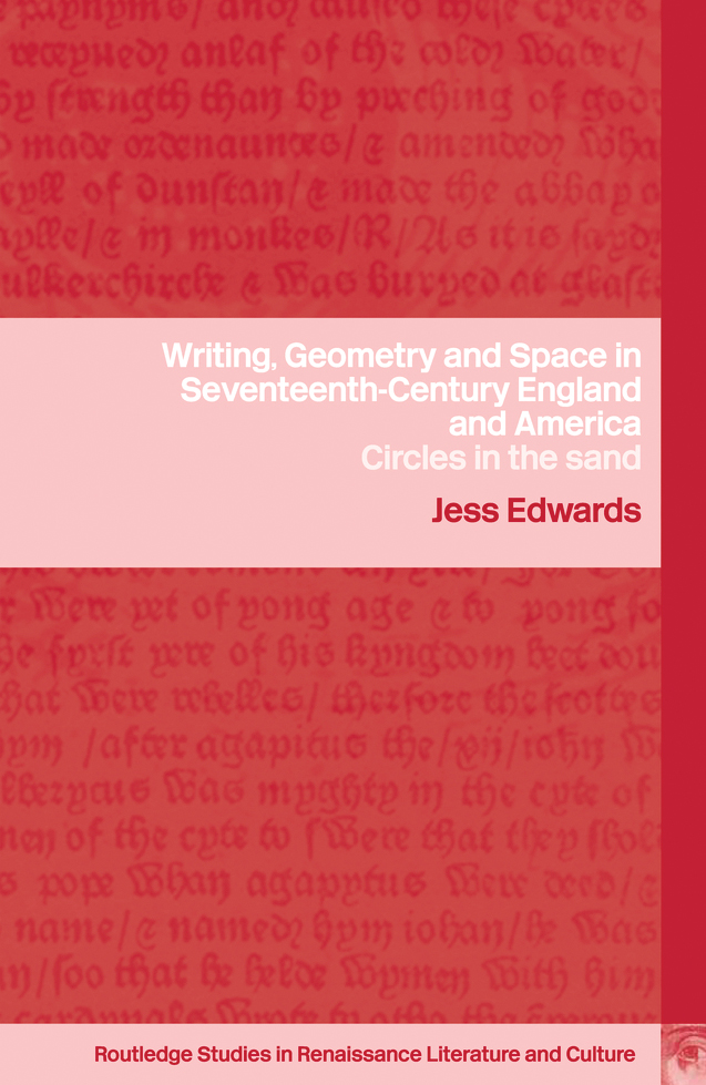 Writing, Geometry and Space in Seventeenth-Century England and America: Circles in the Sand (Hardback) book cover