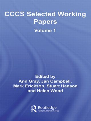 CCCS Selected Working Papers: Volume 1 (Hardback) book cover