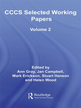 CCCS Selected Working Papers: Volume 2 (Hardback) book cover