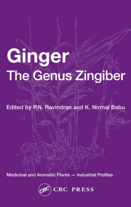 Ginger: The Genus Zingiber, 1st Edition (Hardback) book cover