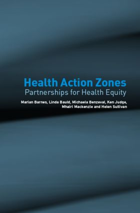 Health Action Zones: Partnerships for Health Equity (Paperback) book cover