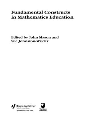 Fundamental Constructs in Mathematics Education (Paperback) book cover