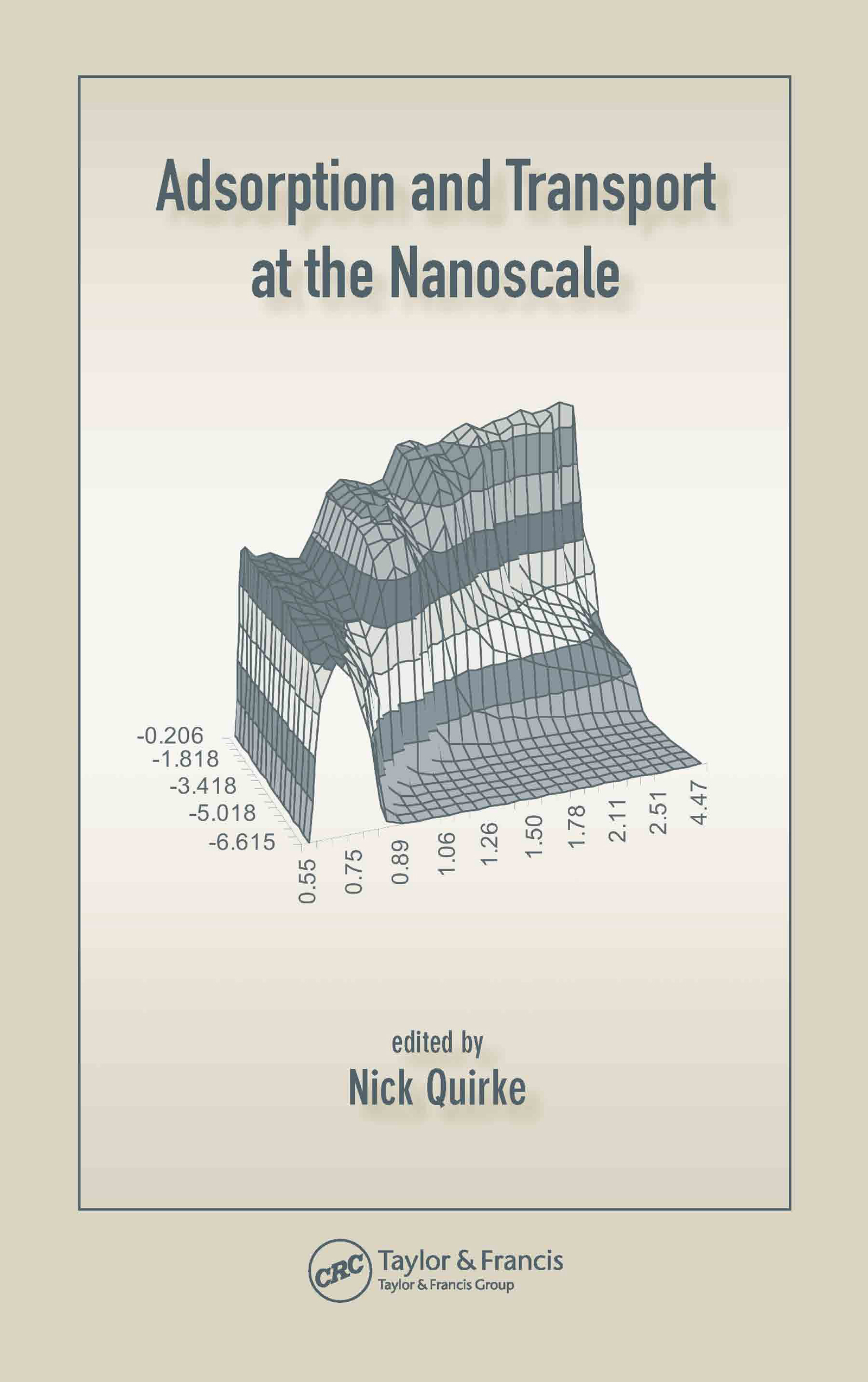 Adsorption and Transport at the Nanoscale: 1st Edition (Hardback) book cover