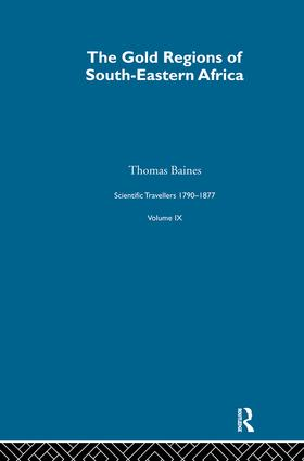 Gold Region:Sci Tra 1791-1877: 1st Edition (Hardback) book cover