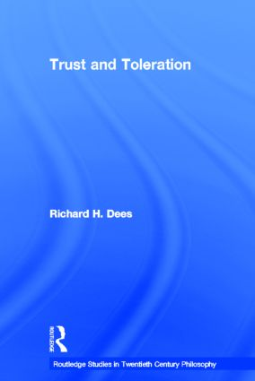 Trust and Toleration (Hardback) book cover