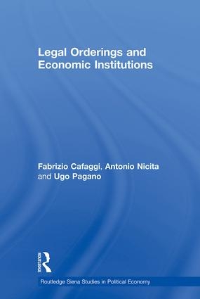 Legal Orderings and Economic Institutions (Hardback) book cover