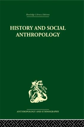 History and Social Anthropology (Hardback) book cover