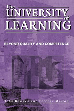 The University of Learning: Beyond Quality and Competence, 1st Edition (Paperback) book cover