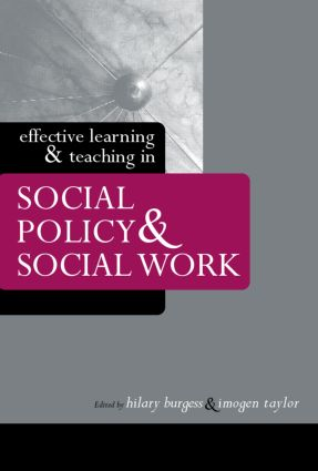 Effective Learning and Teaching in Social Policy and Social Work (Paperback) book cover