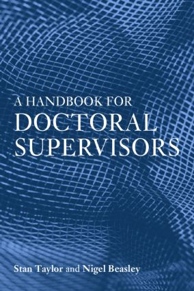 A Handbook for Doctoral Supervisors (Paperback) book cover