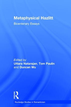 Metaphysical Hazlitt: Bicentenary Essays book cover