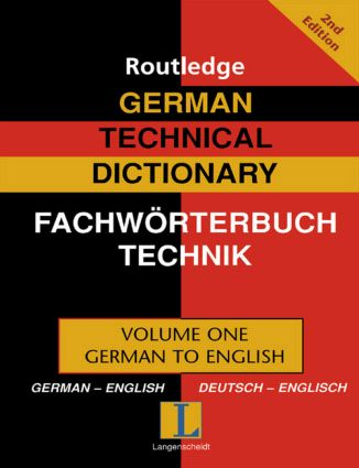 German Technical Dictionary (Volume 1): 2nd Edition (Hardback) book cover