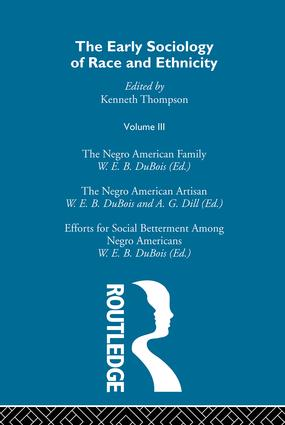 The Early Sociology of Race & Ethnicity Vol 3: 1st Edition (Hardback) book cover