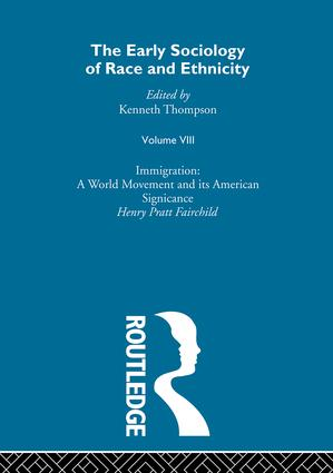 The Early Sociology of Race & Ethnicity Vol 8 book cover