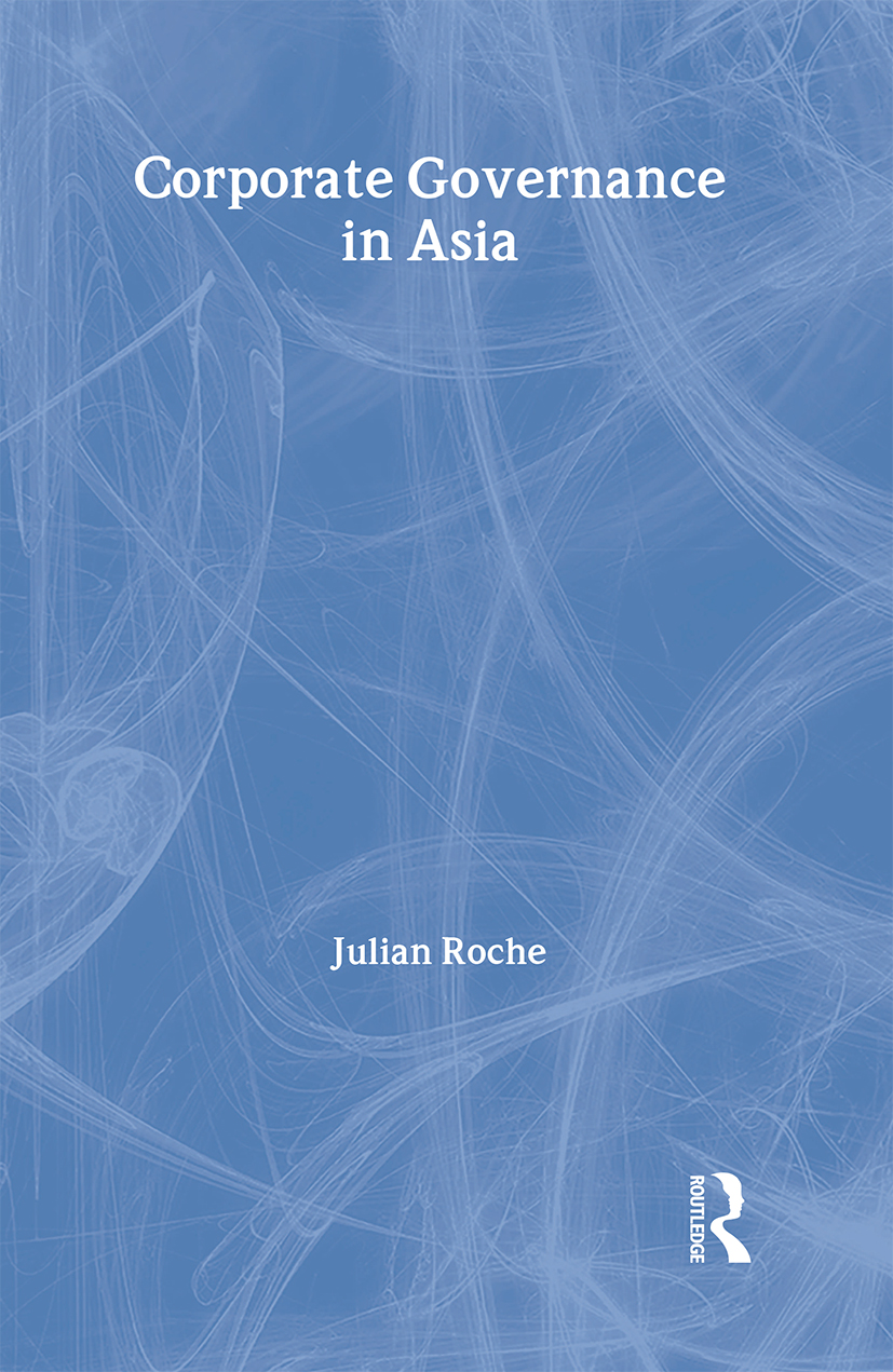 Corporate Governance in Asia: 1st Edition (Paperback) book cover
