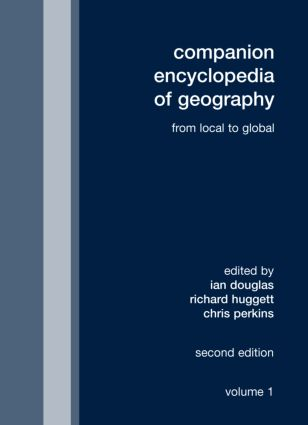Companion Encyclopedia of Geography: From the Local to the Global book cover