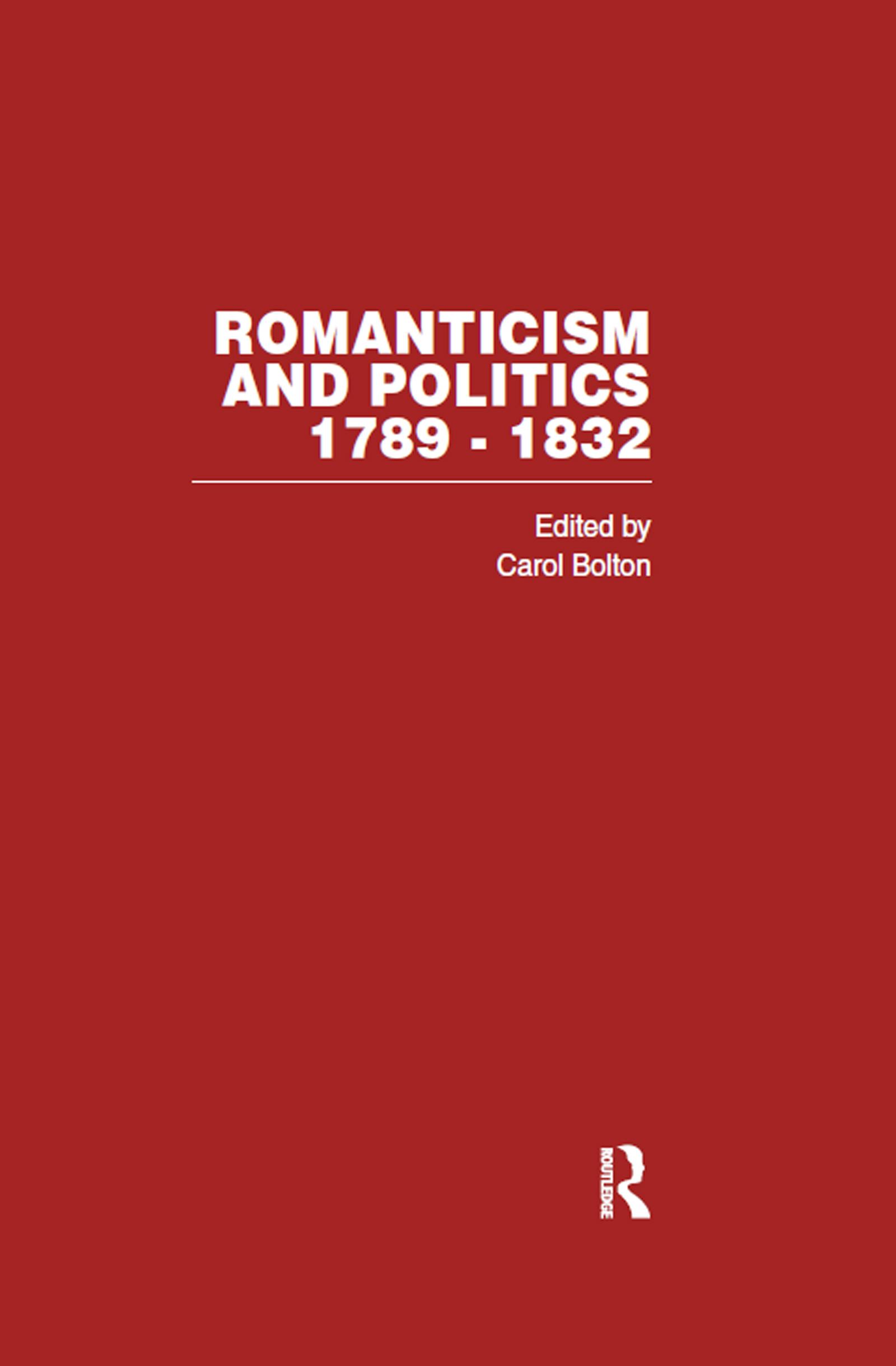 Romanticism & Politics 1789-1832 (Hardback) book cover