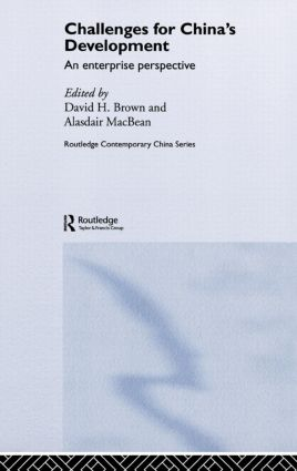 Challenges for China's Development: An Enterprise Perspective, 1st Edition (Hardback) book cover