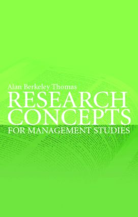 Research Concepts for Management Studies: 1st Edition (Paperback) book cover