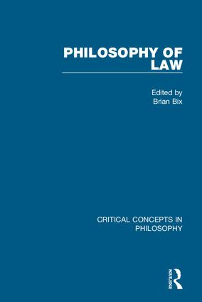 Philosophy of Law: 1st Edition (Hardback) book cover