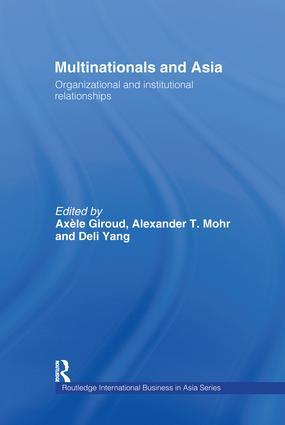 Multinationals and Asia: Organizational and Institutional Relationships book cover