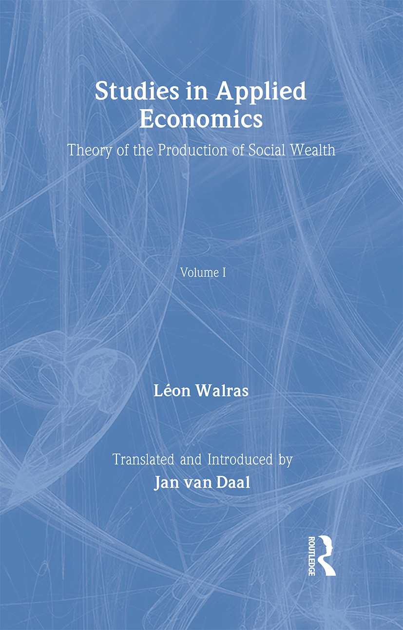 Studies in Applied Economics: 1st Edition (Hardback) book cover
