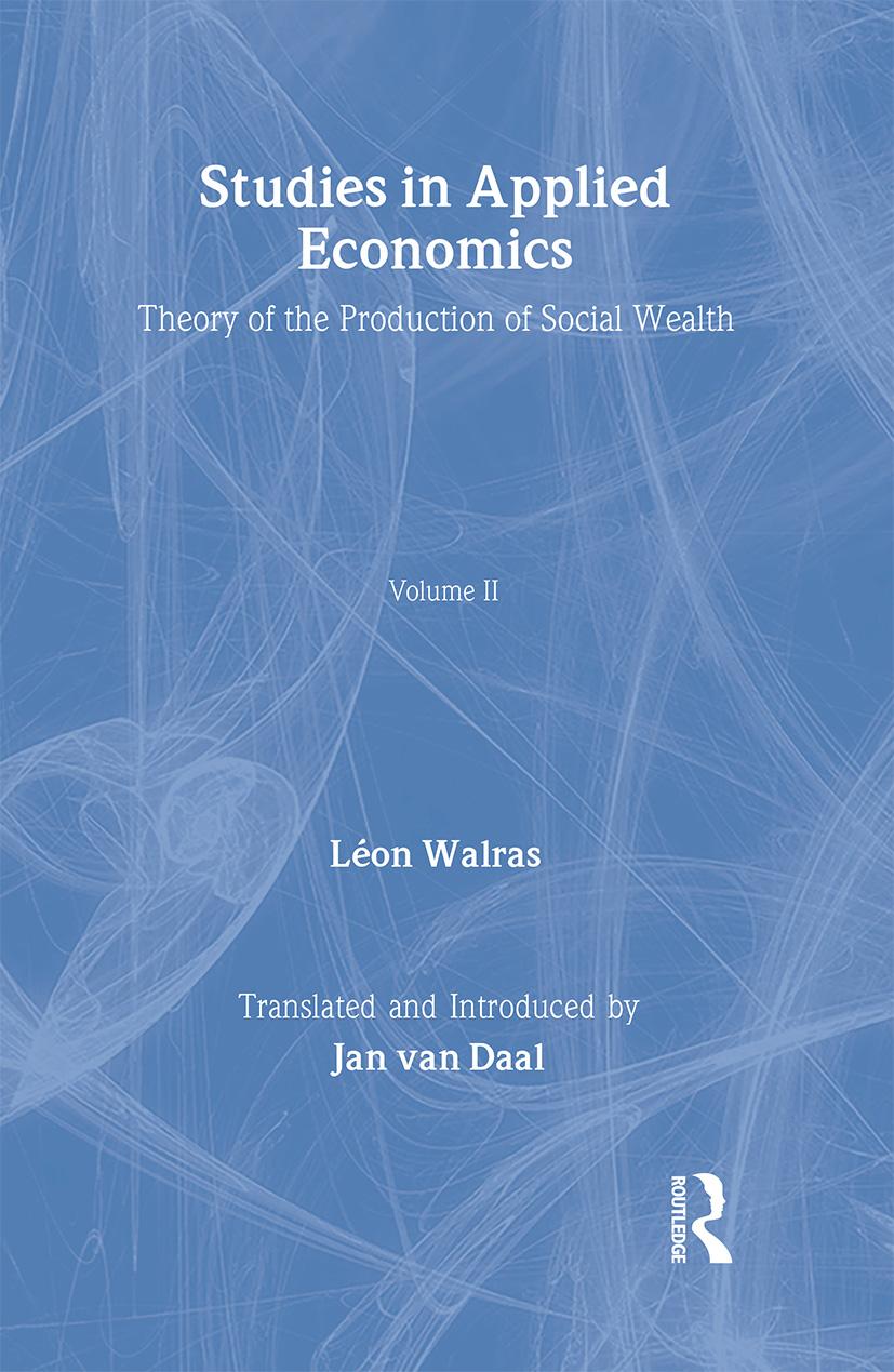 Studies in Applied Economics, Volume II: 1st Edition (Hardback) book cover