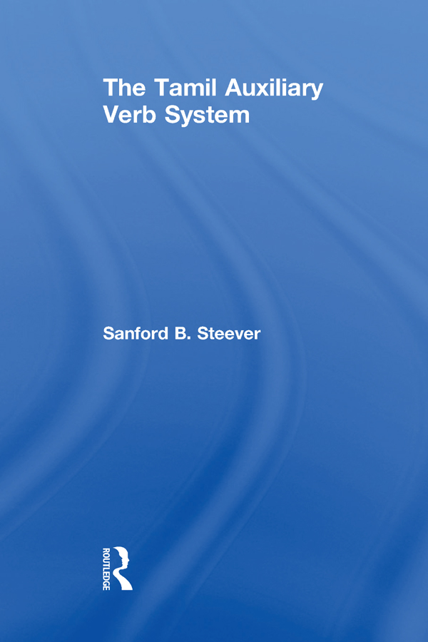 The Tamil Auxiliary Verb System (Hardback) book cover