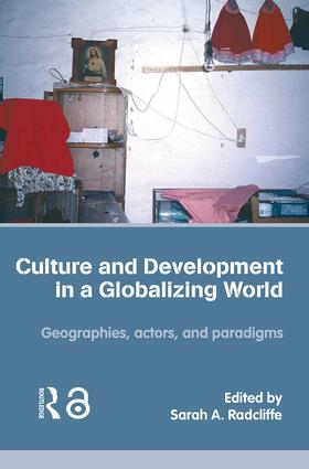 Culture and Development in a Globalizing World: Geographies, Actors and Paradigms (Paperback) book cover