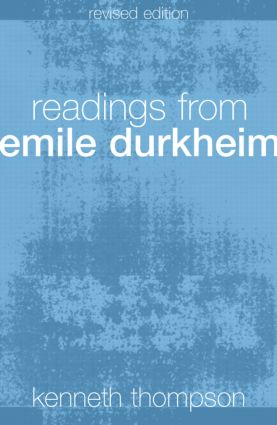 Readings from Emile Durkheim: 2nd Edition (Paperback) book cover