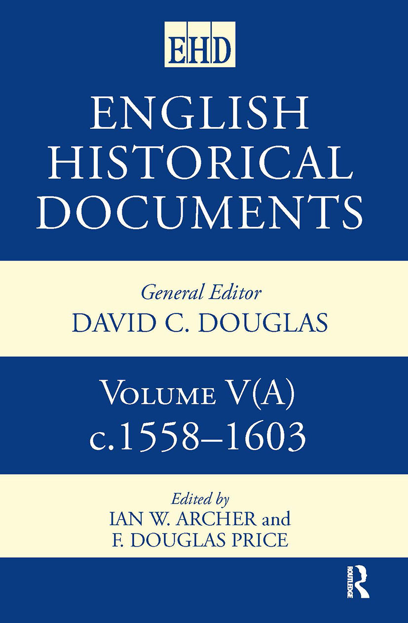 English Historical Documents 1558–1603 (Hardback) book cover
