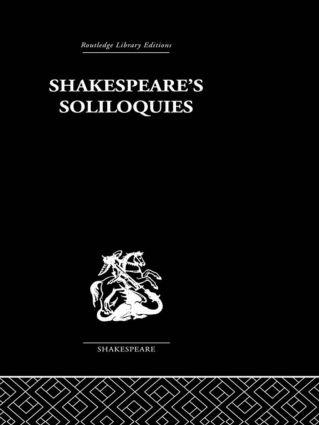 Shakespeare's Sililoquies (Hardback) book cover