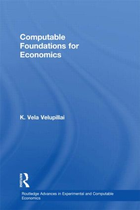 Computable Foundations for Economics (Hardback) book cover