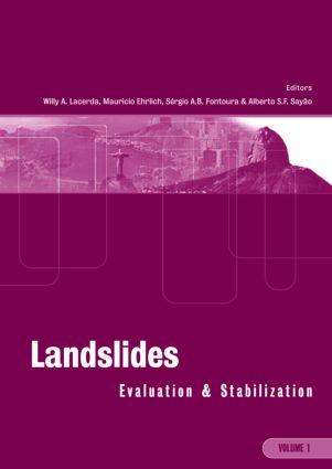 Landslides: Evaluation and Stabilization/Glissement de Terrain: Evaluation et Stabilisation, Set of 2 Volumes: Proceedings of the Ninth International Symposium on Landslides, June 28 -July 2, 2004 Rio de Janeiro, Brazil, 1st Edition (Hardback) book cover
