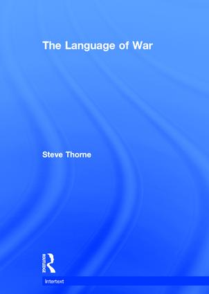 The Language of War: 1st Edition (Hardback) book cover