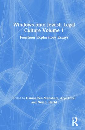 Windows onto Jewish Legal Culture Volume 1: Fourteen Exploratory Essays book cover