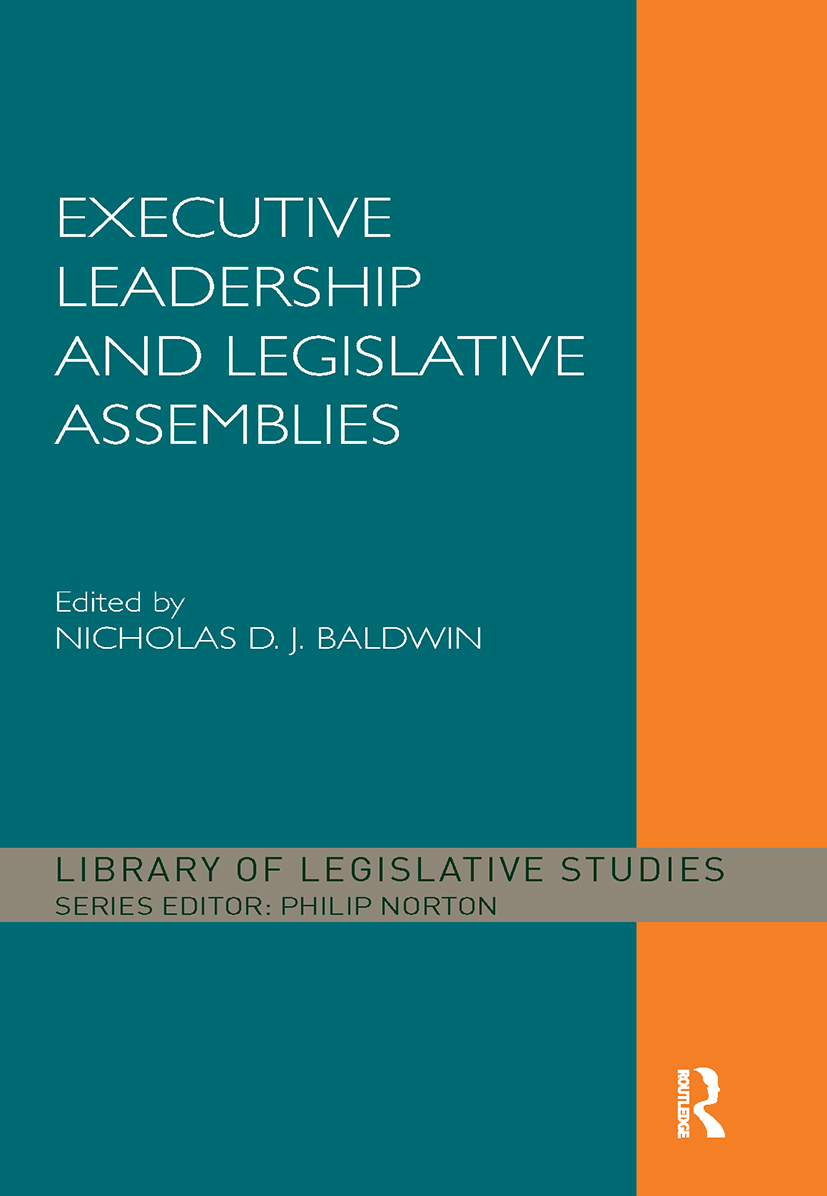 Executive Leadership and Legislative Assemblies (Hardback) book cover