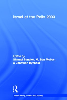 Israel at the Polls 2003 (Hardback) book cover
