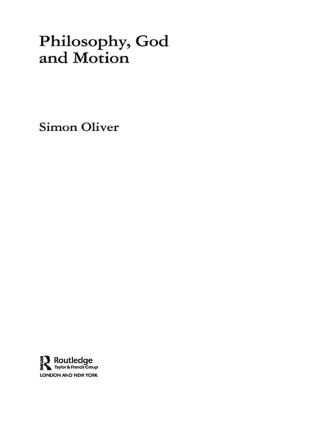 Philosophy, God and Motion book cover