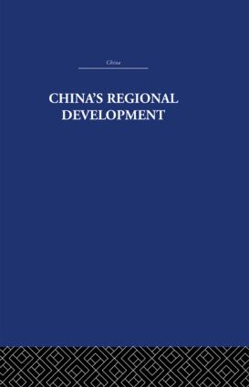 China's Regional Development: 1st Edition (Hardback) book cover