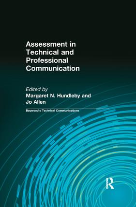 Assessment in Technical and Professional Communication (Paperback) book cover