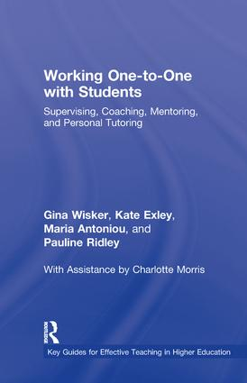 Working One-to-One with Students: Supervising, Coaching, Mentoring, and Personal Tutoring book cover