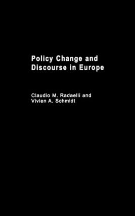 Policy Change & Discourse in Europe (Hardback) book cover
