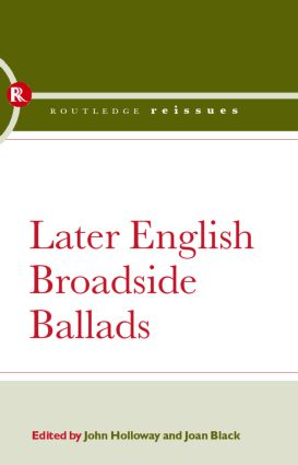Later English Broadside Ballads: Volume 2 (Hardback) book cover