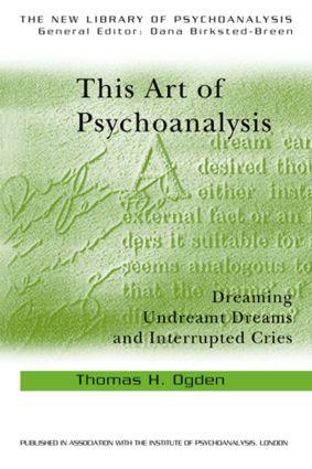 This Art of Psychoanalysis