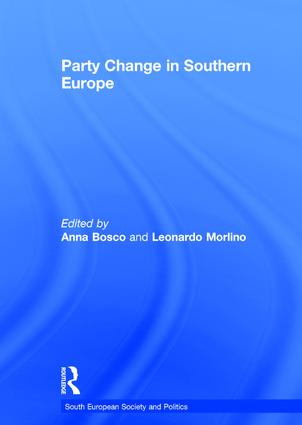 Party Change in Southern Europe (Hardback) book cover